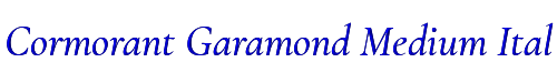 Cormorant Garamond Medium Italic