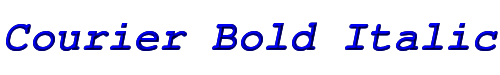 Courier Bold Italic