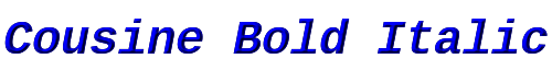 Cousine Bold Italic