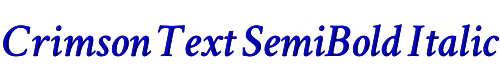Crimson Text SemiBold Italic