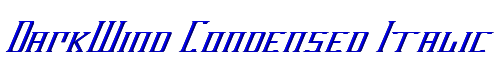 DarkWind Condensed Italic