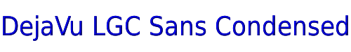 DejaVu LGC Sans Condensed