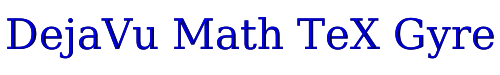 DejaVu Math TeX Gyre