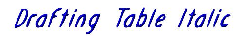 Drafting Table Italic