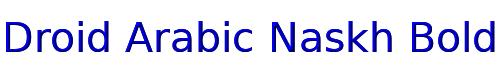 Droid Arabic Naskh Bold