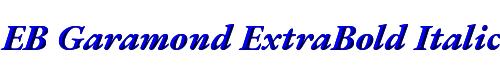 EB Garamond ExtraBold Italic
