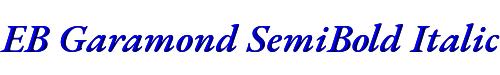 EB Garamond SemiBold Italic