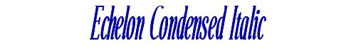 Echelon Condensed Italic