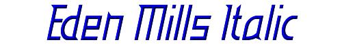 Eden Mills Italic