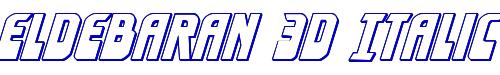 Eldebaran 3D Italic