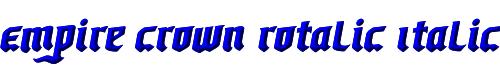 Empire Crown Rotalic Italic