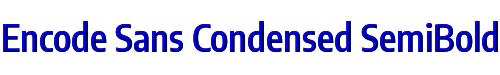 Encode Sans Condensed SemiBold