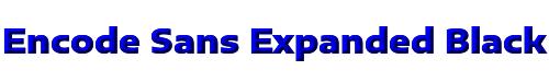Encode Sans Expanded Black