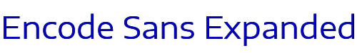 Encode Sans Expanded