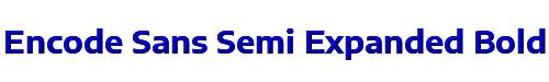 Encode Sans Semi Expanded Bold