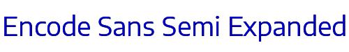 Encode Sans Semi Expanded