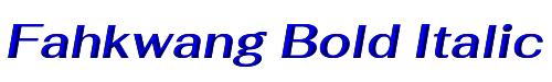Fahkwang Bold Italic