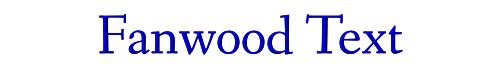Fanwood Text