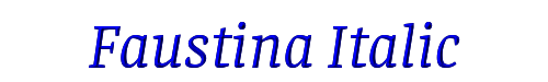 Faustina Italic
