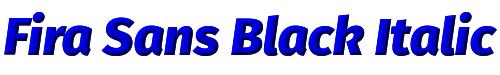 Fira Sans Black Italic