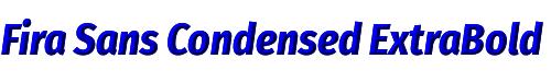 Fira Sans Condensed ExtraBold Italic