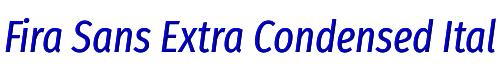 Fira Sans Extra Condensed Italic
