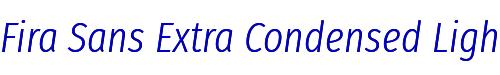 Fira Sans Extra Condensed Light Italic