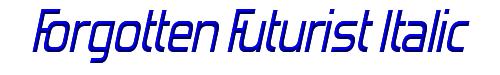 Forgotten Futurist Italic