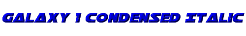 Galaxy 1 Condensed Italic