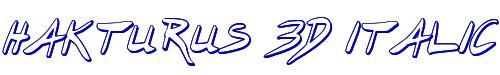 Hakturus 3D Italic