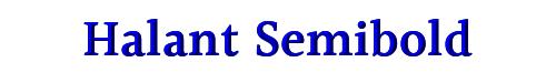 Halant Semibold