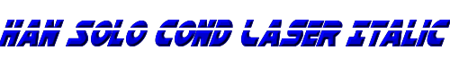 Han Solo Cond Laser Italic