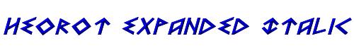 Heorot Expanded Italic