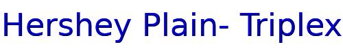 Hershey Plain- Triplex