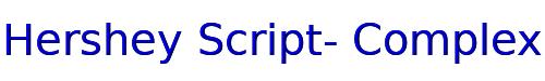 Hershey Script- Complex
