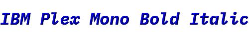 IBM Plex Mono Bold Italic