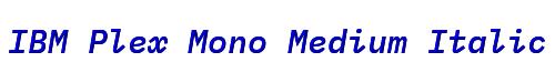 IBM Plex Mono Medium Italic