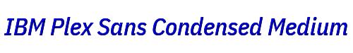 IBM Plex Sans Condensed Medium Italic