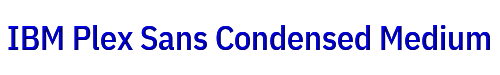 IBM Plex Sans Condensed Medium