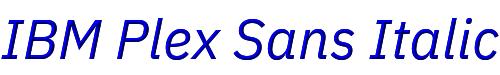 IBM Plex Sans Italic