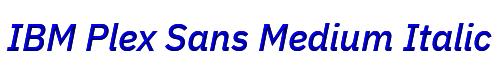 IBM Plex Sans Medium Italic