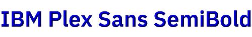 IBM Plex Sans SemiBold