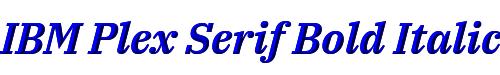IBM Plex Serif Bold Italic