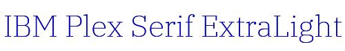 IBM Plex Serif ExtraLight