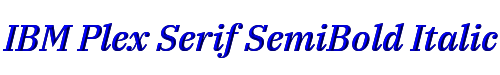 IBM Plex Serif SemiBold Italic