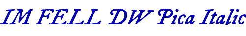 IM FELL DW Pica Italic