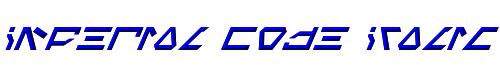 Imperial Code Italic