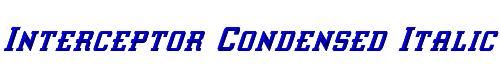 Interceptor Condensed Italic