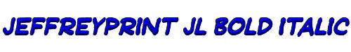 JeffreyPrint JL Bold Italic