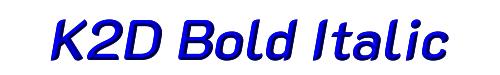 K2D Bold Italic